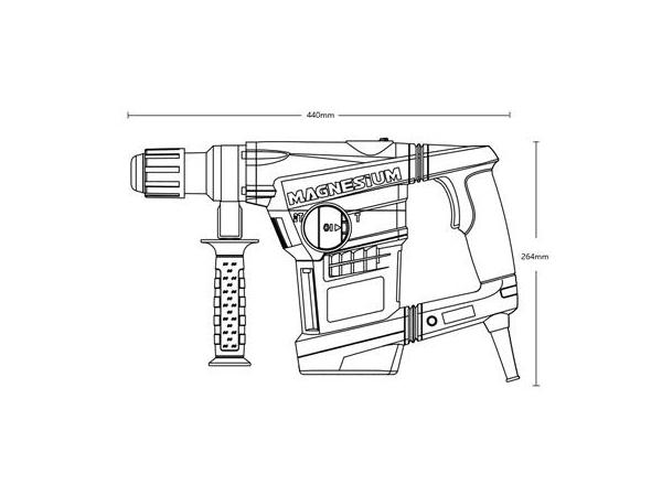 Tukul putar SDS Max 40mm